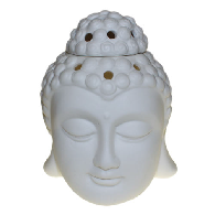 buddha head oil burner white