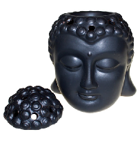 buddha head oil burner black