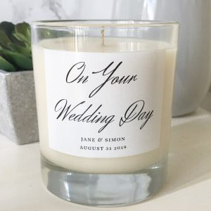 custom wedding candle