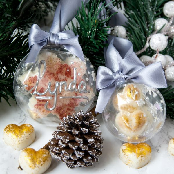 Manchester candles Christmas baubles