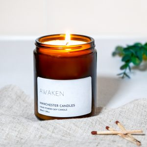 citrus and herb candle