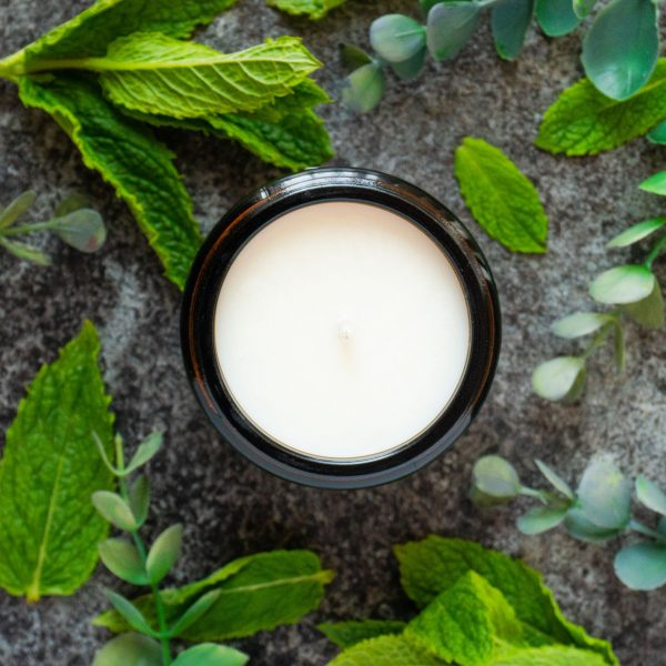 Peppermint and Eucalyptus candle
