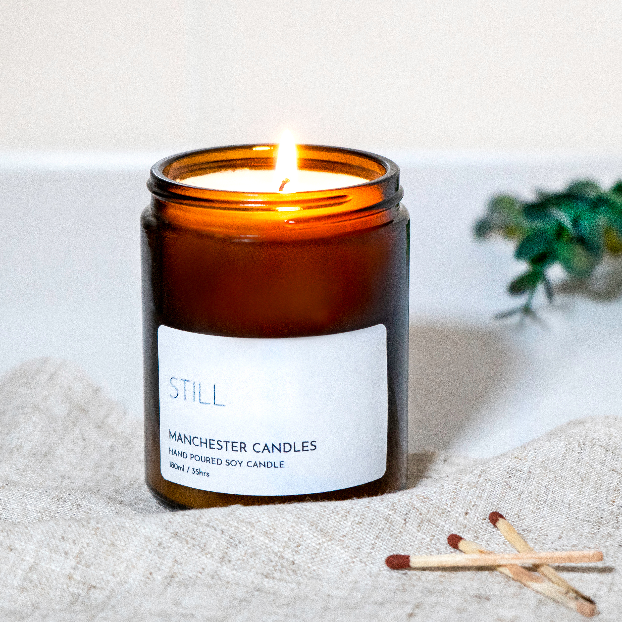 Peppermint And Eucalyptus Candle Still Manchester Candles