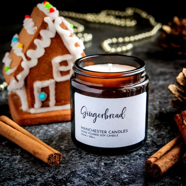 Festive Gingerbread Candle