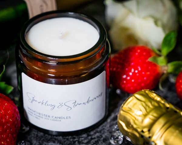 sparkling strawberries candle