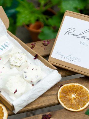relax wax melt box